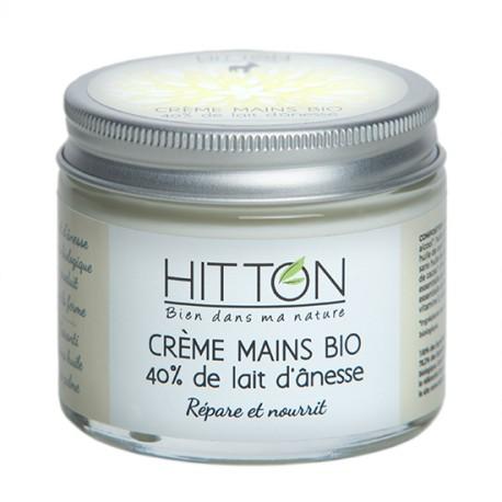 Crème mains bio 40% lait d'ânesse