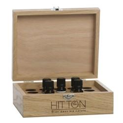 Coffret Bois Huiles essentielles 20 emplacements Hitton